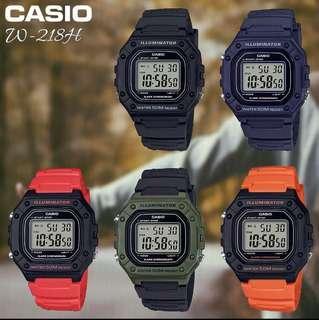 Casio Watch! BNIB!! Black, Army Green, Red and Orange!!