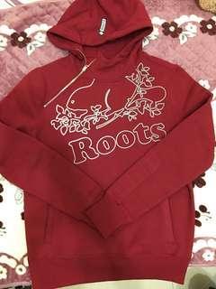 🚚 Roots 厚磅 紅色 反光 內鋪棉 黃金s號 全新!