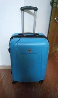 Check-in hard case trolley luggage bag - has a crack