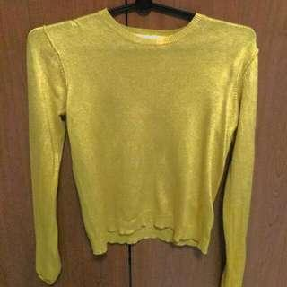 Pull & Bear Yellow Mustard Sweater Top