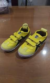 Sepatu Tiger Onitsuka kuning size 25