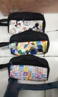 Pencil case/ dompet cosmetik bahan parasit printing