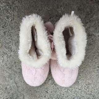 H&M Pink Bedroom Boots