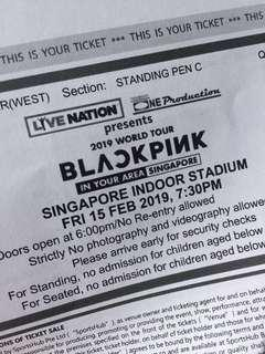 1x Cat 1(Standing PEN C) blackpink concert ticket