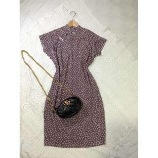 B8-V141: Mauve Patterned Dress