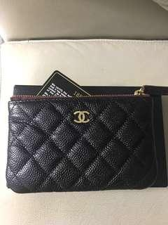 Chanel zip purse with GHW