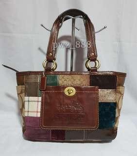 Authentic COACH Patchwork Shoulder Bag