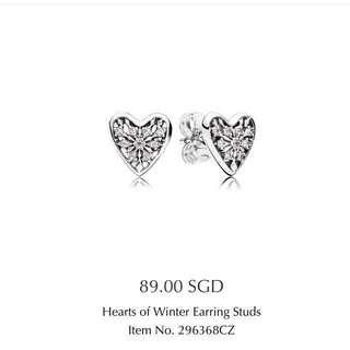 Hearts of Winter Earring Studs pandora
