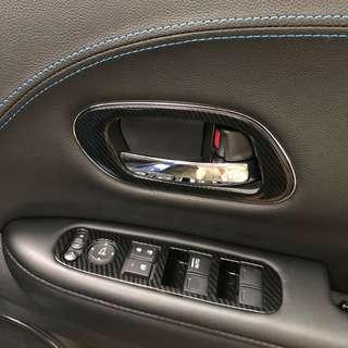 Honda vezel hrv interior accessories cup holder v steering window controls door handles speedometer carbon fibre