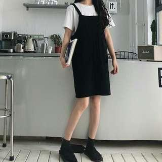 🚚 (2col) cute straight ulzzang pinafore overall
