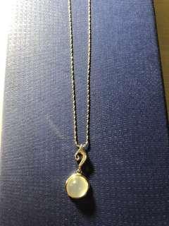 Moonstone silver necklace