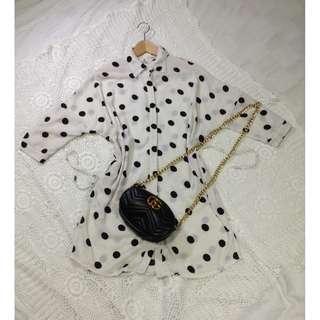 B8-V158: White dotted dress