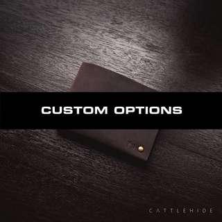 🚚 Custom Options