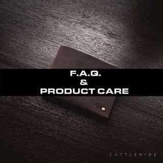 FAQ & Leather Care