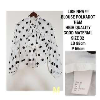 BLOUSE POLKADOT H&M