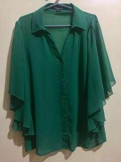 Clearance sale!! Forever 21 Green batwing top