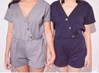 Basic romper with button details