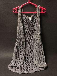 Forever21 gray net vest