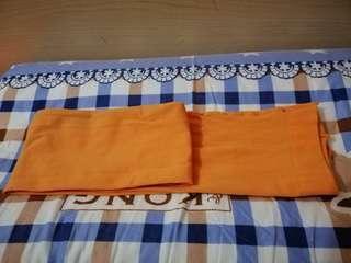 橙色彈性絲襪(free)免費送出 買一送一