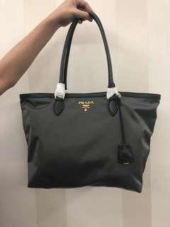 On-hand: Authentic Prada Grey Tote Bag