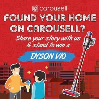 Share your property journey with us and win a Dyson V10!