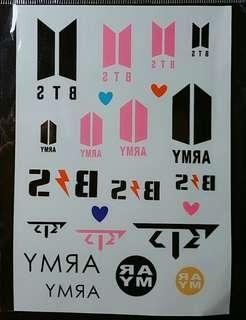 🚚 BTS 紋身貼