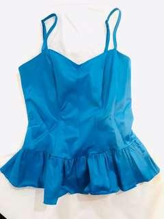 Electric Blue Baby Doll Top