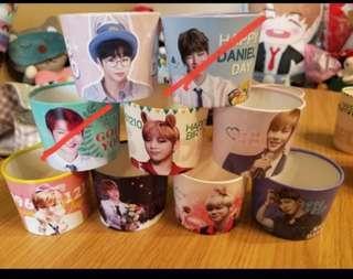 姜丹尼爾生日應援韓國正品杯套