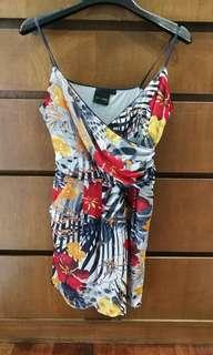 Floral dress with pocket