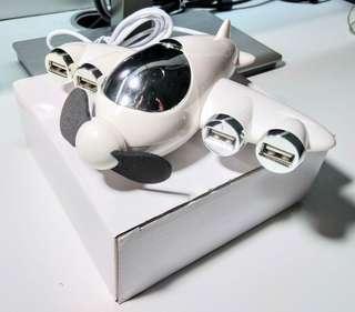 小型飛機USB Hub x4