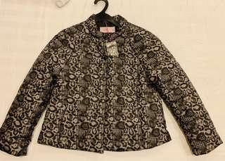 Animal print light jacket size 140
