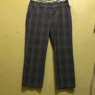Plaid trouser pants