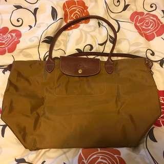 Longchamp Bag Large size brown coloe