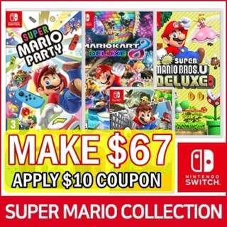 [Nintendo Switch Mario Collection] SUPER MARIO PARTY / BROS. U DELUXE / MARIOKART 8 / ODYSSEY