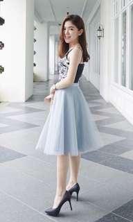 Room8008 Grey Tulle Tutu Skirt