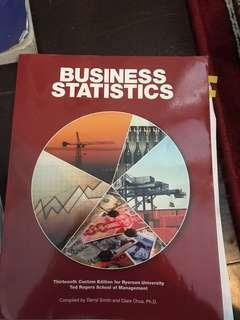 Ryerson Business Statistics 13th ed.