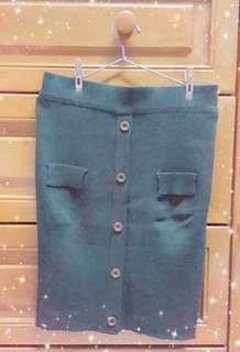 #MFEB20 Dark Green Short Skirt
