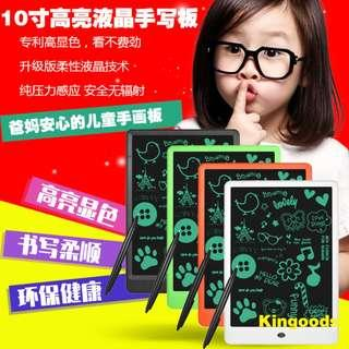 "New 10"" LCD eWriting Board Erasable Drawing Tablet Handwriting Pads Thicker Lines With Casing Good Quality"