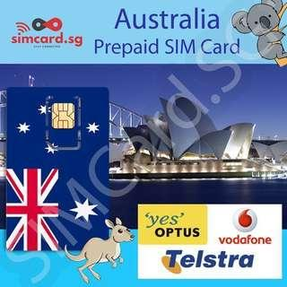 🇦🇺 Australia Prepaid Data SIM Card (Optus, Telstra and Vodafone)