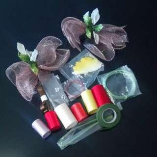絲帶花,製作材料和裝飾 silkflowers, materials and decoratio