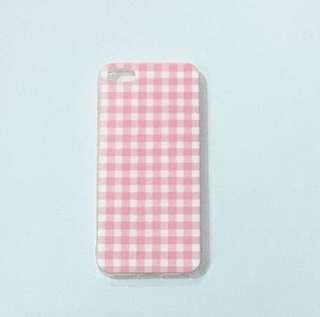 Iphone 5/5s Pink Gingham Casing