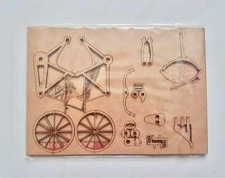 BNIP 3D Wooden Bicycle Puzzle