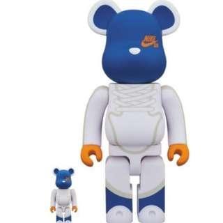 Medicom Toy BE@RBRICK Nike SB White 400 & 100 Bearbrick Figure 2018 nike bearbrick