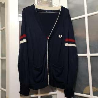 Fred Perry 日版 Oxford Cardigan 冷衫 sweater