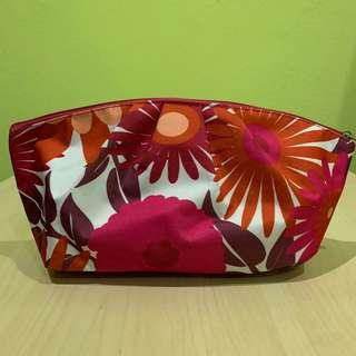 Floral CLINIQUE Cosmetic Bag