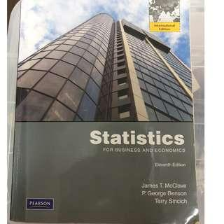 Statistics for Business and Economics - Eleventh edition with CD