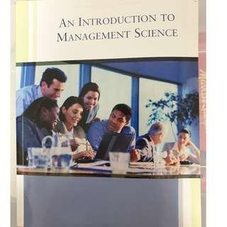 An introduction to management science with CD