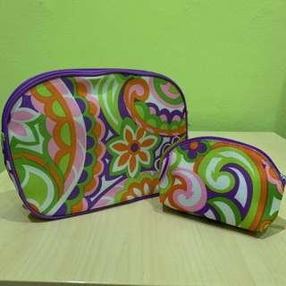 Colorful CLINIQUE Cosmetic Bags