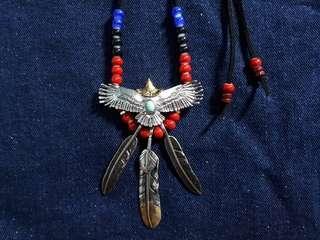 Kalung Elang Bulu S925 Etnik Indian Navajo VI