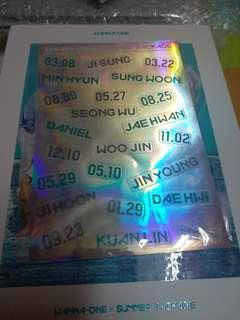 Wanna One Summer Package Sticker